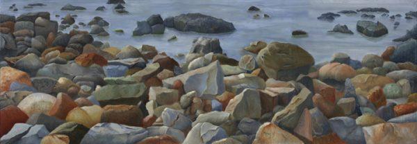 Rocks in Maine (Triptych)